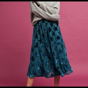 Anthropologie blue star Maeve mindi skirt
